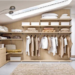 элементы гардеробной и шкафа-купе