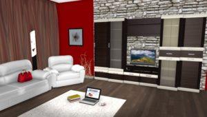 макет комнаты в программе