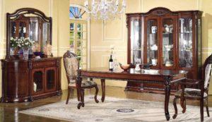 тёмная гостиная в классическом стиле