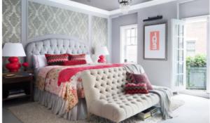 яркие цвета в спальне