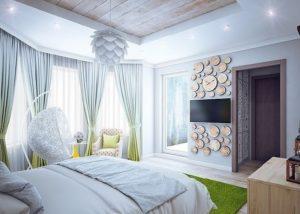 эко стиль спальня
